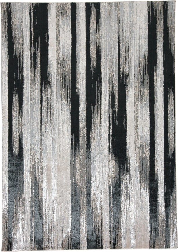 Dow Black/Silver Area Rug Rug Size: Rectangle 10' x 13'2