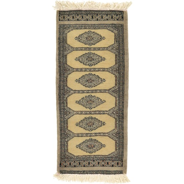 One-of-a-Kind Tekke Hand-Knotted Wool Light Beige Area Rug
