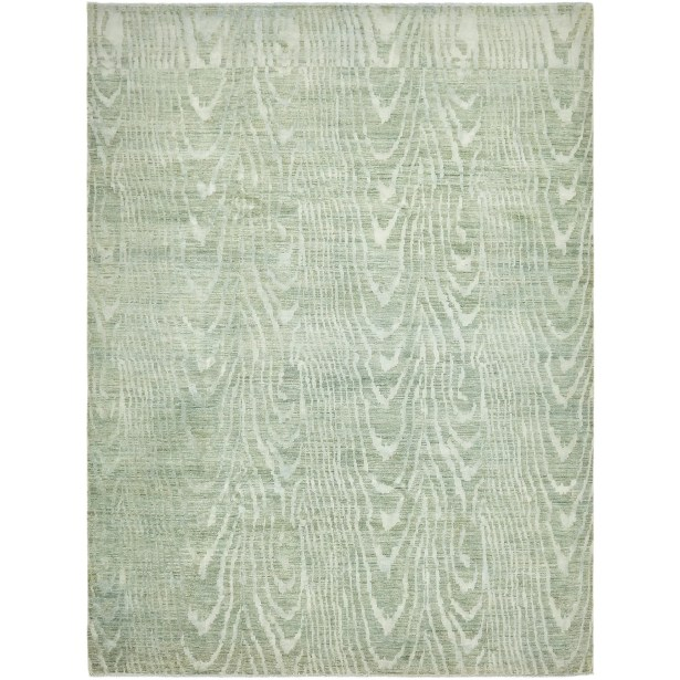 One-of-a-Kind Easton Hand-Knotted Wool/Silk Light Gray Area Rug