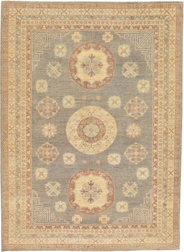 One-of-a-Kind Wareham Hand-Knotted Wool Beige/Blue/Brown Area Rug