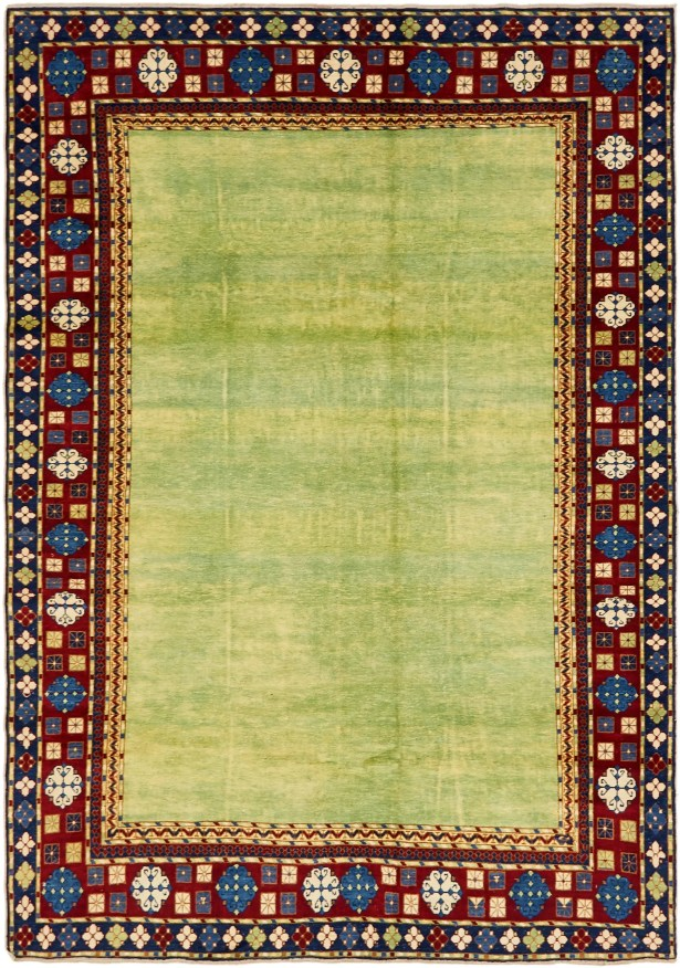 One-of-a-Kind Alayna Hand-Knotted Wool Green/Blue/Red Area Rug
