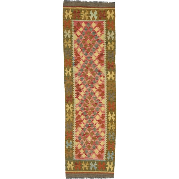 One-of-a-Kind Doorfield Hand-Knotted Wool  2' x 6'5