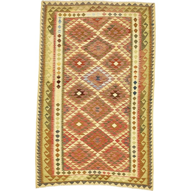 One-of-a-Kind Doorfield Hand-Knotted Wool 5'5