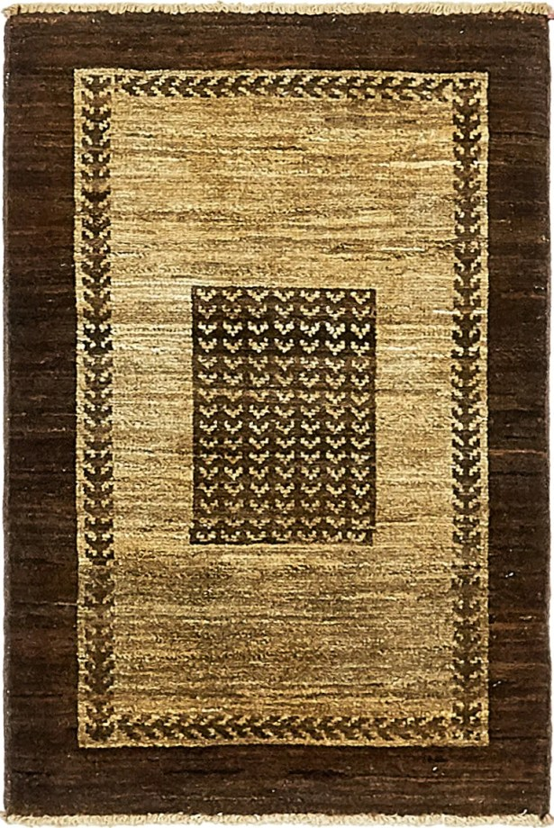 One-of-a-Kind Nash Hand-Knotted  2' x 3' Wool Beige/Brown Area Rug