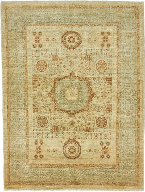 One-of-a-Kind Hungerford Hand-Knotted  5' x 6'8