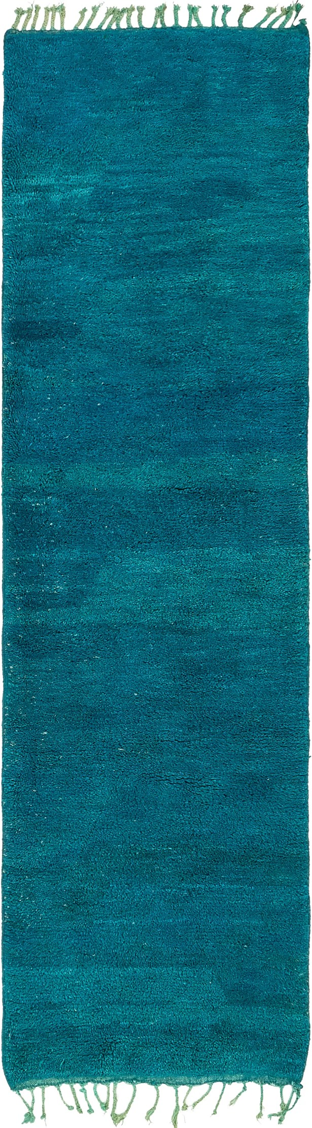 One-of-a-Kind Soham Hand-Knotted Wool Blue Area Rug