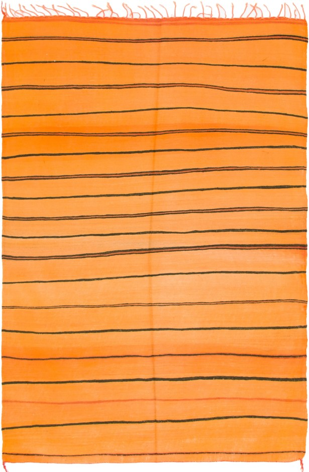 One-of-a-Kind Hornsea Hand-Knotted Wool Orange Area Rug