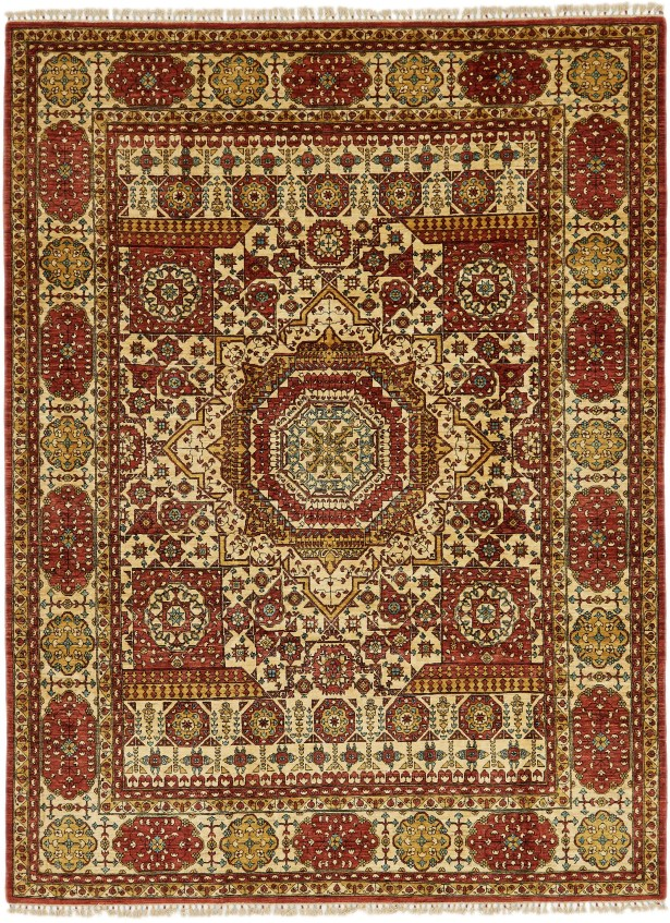 One-of-a-Kind Hungerford Hand-Knotted Wool Red/Beige Area Rug