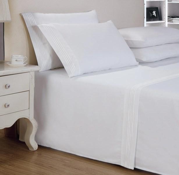Elland Classic 1000 Thread Count 100% Cotton Sheet Set Size: Queen, Color: White