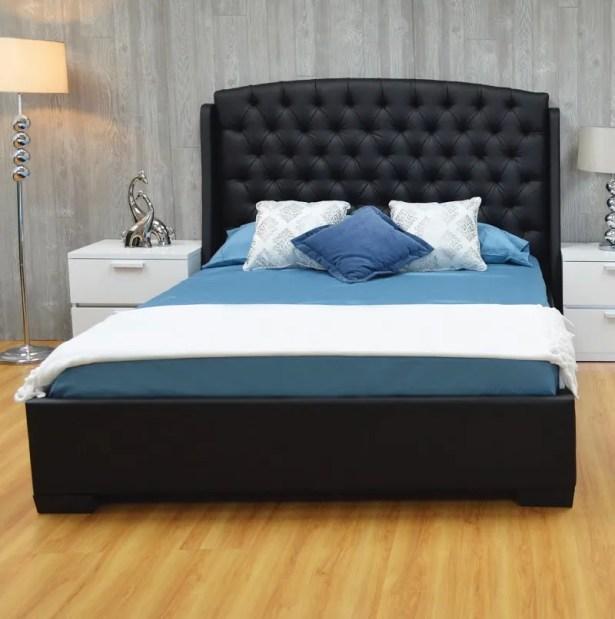 Burslem Upholstered Platform Bed Color: Black, Size: Queen