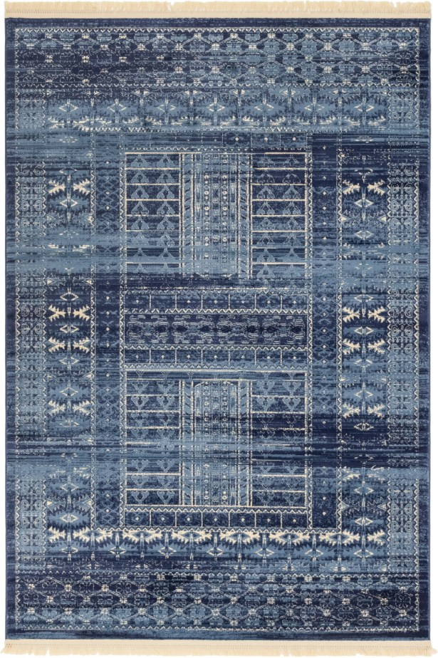 Rumsey Blue Area Rug Rug Size: Rectangle 6' x 9'