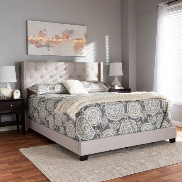 Anner Upholstered Panel Bed Size: Queen, Color: Beige