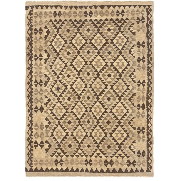 One-of-a-Kind Elland Hand-Knotted Wool Beige Area Rug