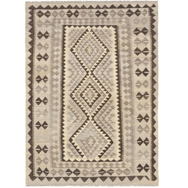 One-of-a-Kind Elland Hand-Knotted Wool Gray Area Rug