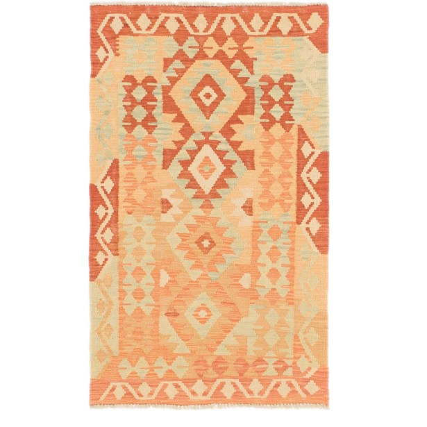 One-of-a-Kind Elland Hand-Knotted Wool Red Area Rug