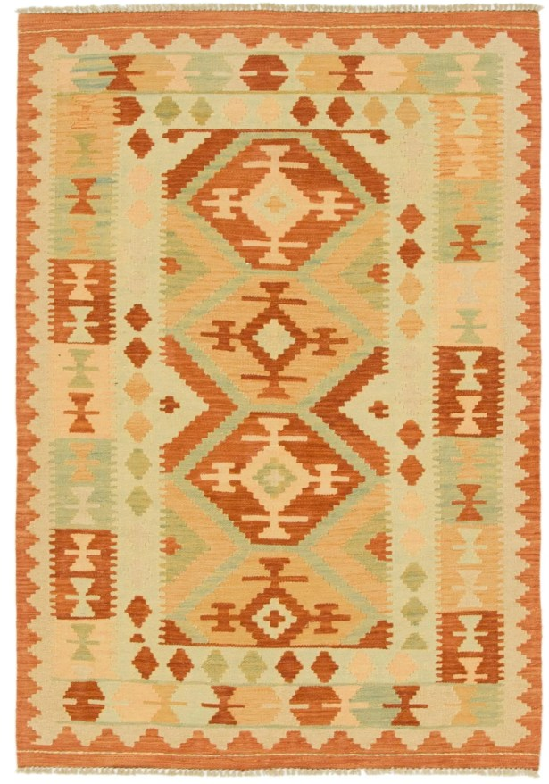 One-of-a-Kind Elland Hand-Knotted Wool Ivory Area Rug