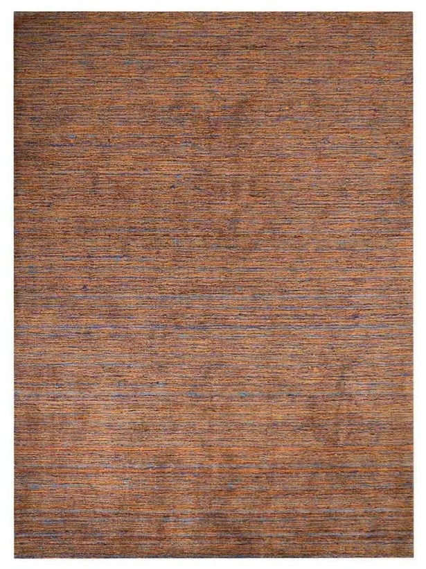 Lineberger Gabbeh Hand-Knotted Silk Gold Area Rug