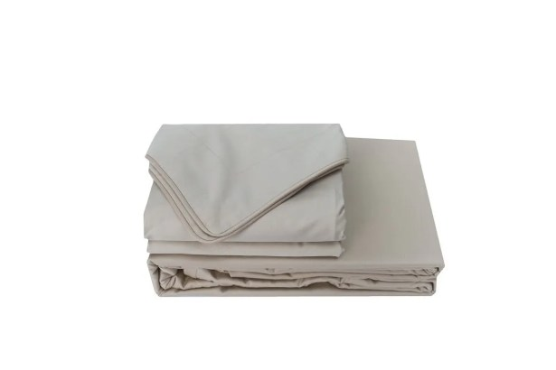 Versaille 300 Thread Count 100% Cotton Oversized Flat Sheet Size: Double, Color: Mushroom