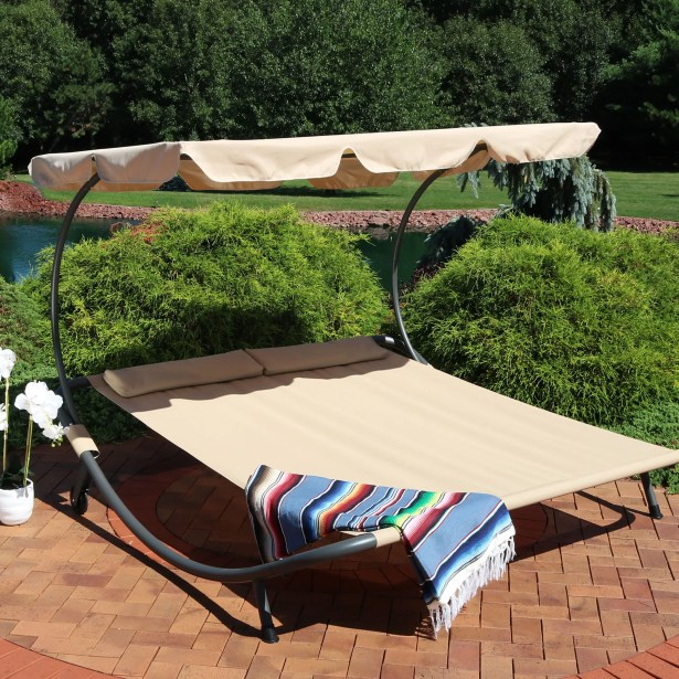 Cartert Outdoor Double Chaise Lounge with Cushion