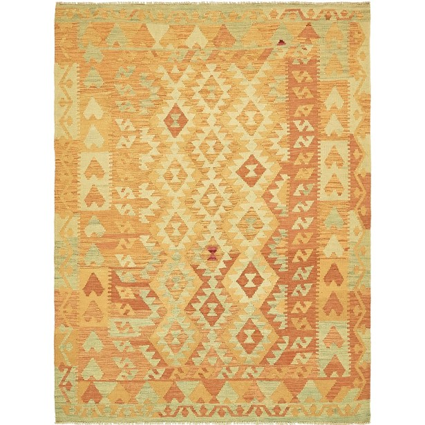 One-of-a-Kind Elland Hand-Knotted Wool Gold Area Rug