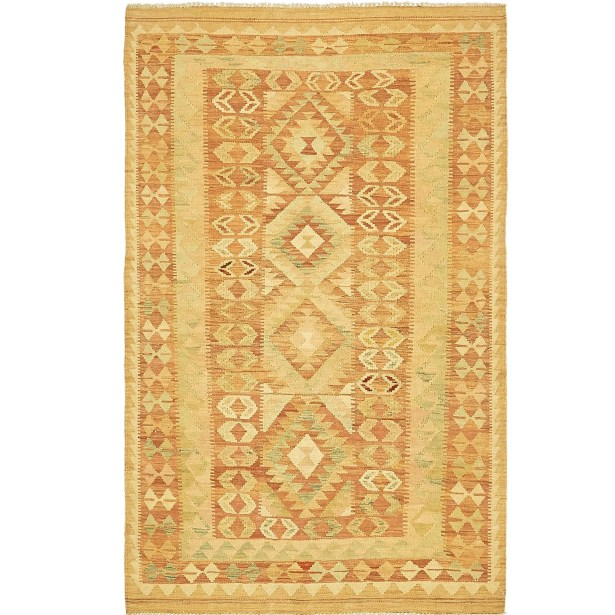 One-of-a-Kind Elland Hand-Knotted Wool Salmon/Beige Area Rug