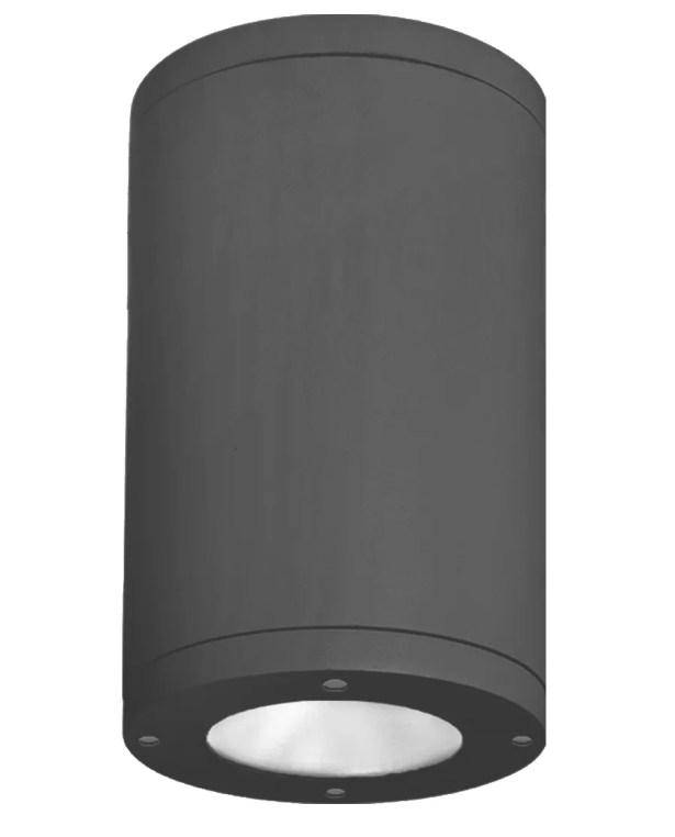 Janice 1-Light LED Flush Mount Fixture Finish: Black, Lens Degree: Flood