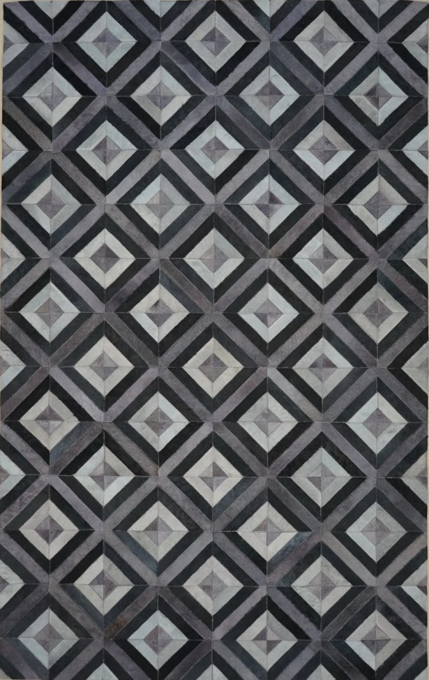 One-of-a-Kind Norborne 6' x 9' Cowhide Gray/Black Area Rug
