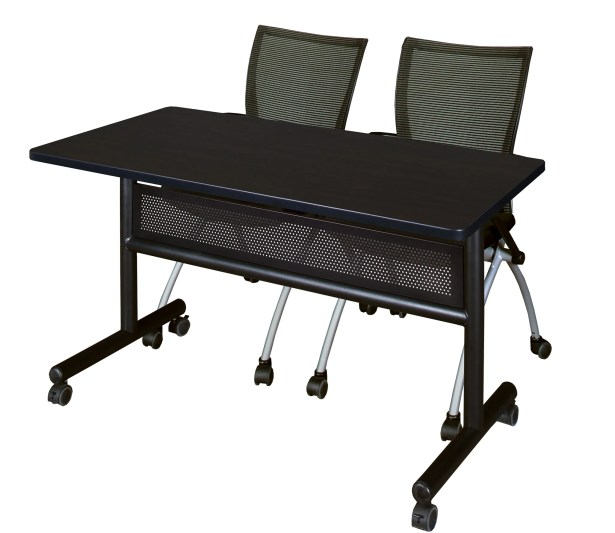 Velasquez Flip Top Mobile Training Table with Modesty Panel Size: 29