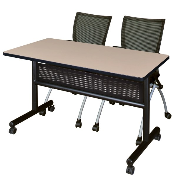 Velasquez Flip Top Mobile Training Table with Modesty Panel Tabletop Finish: Beige, Size: 29