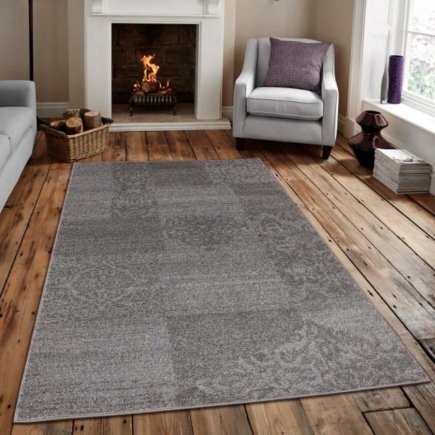 Roxbury Gray/Beige Area Rug Rug Size: Rectangle 5' x 7'