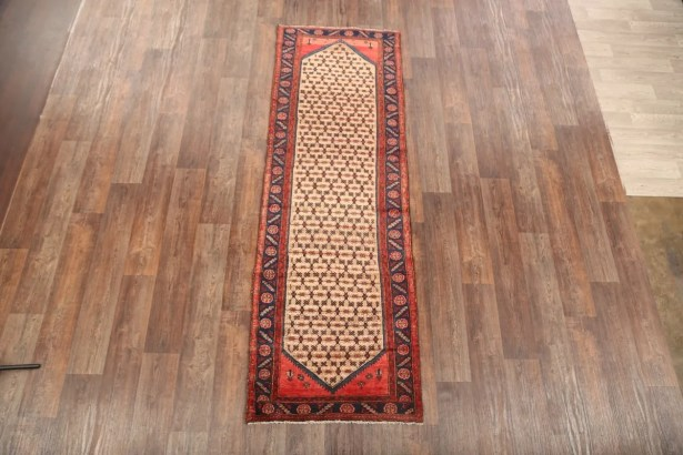 One-of-a-Kind Koliaei Hamadan Traditional Persian Brown Hand-Knotted 3'1
