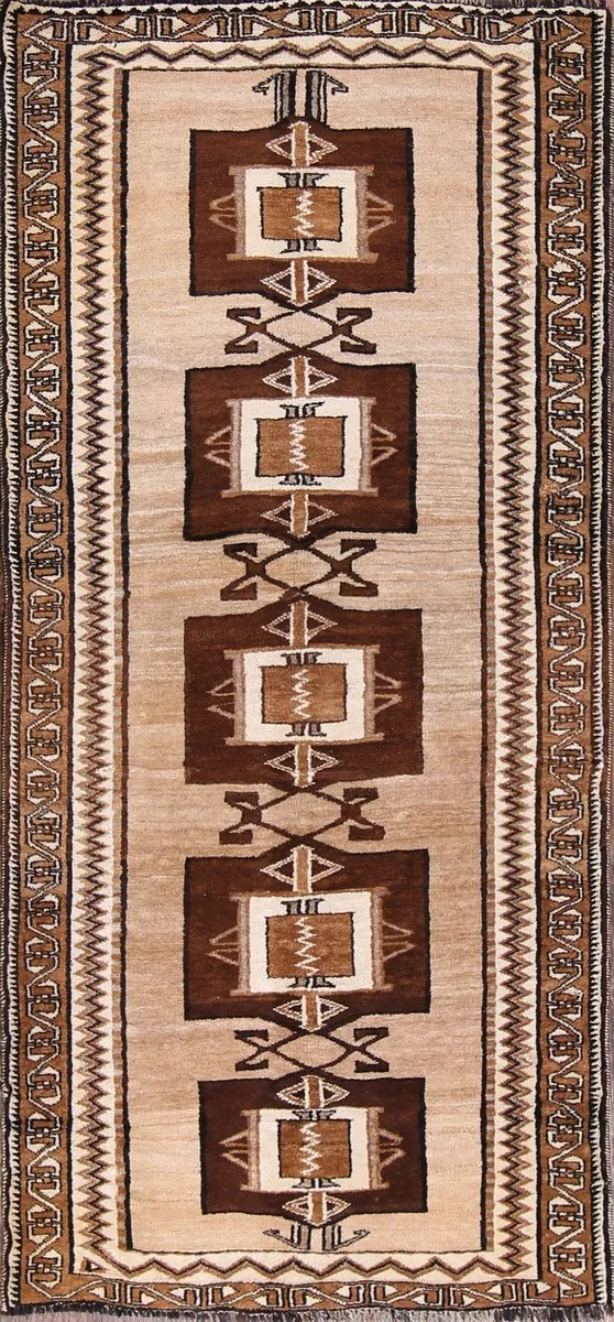 One-of-a-Kind Gabbeh Persian Hand-Knotted 3'5