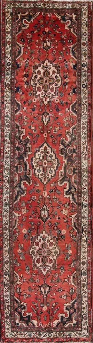 One-of-a-Kind Ocampo Hamadan Persian Hand-Knotted 3'8