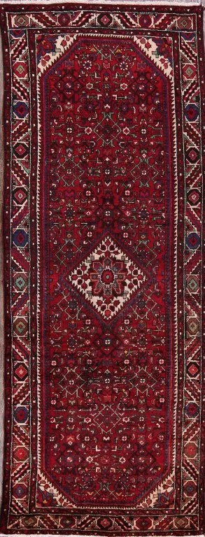 One-of-a-Kind Vintage Hamedan Persian Hand-Knotted 3'11