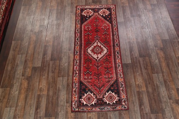 One-of-a-Kind Traditional Shiraz Persian Hand-Knotted 3'6