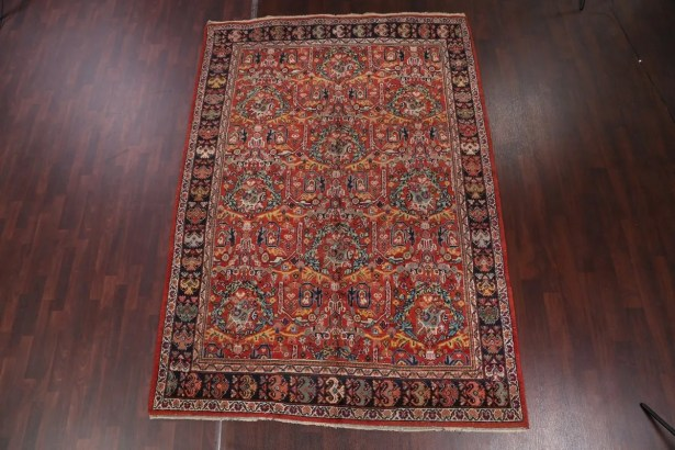 One-of-a-Kind Goble Traditional Sarouk Ziegler Persian Hand-Knotted 7'3
