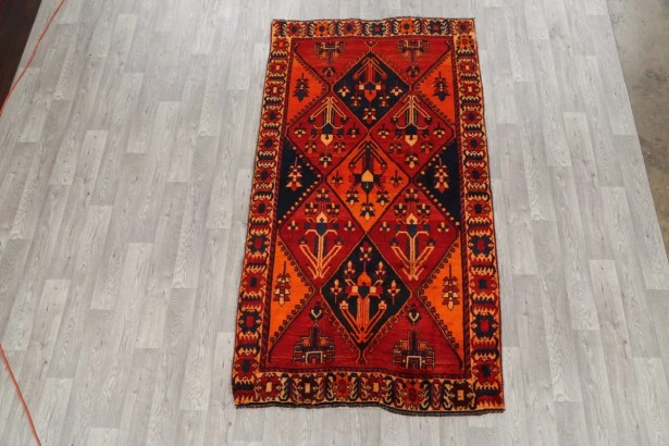 One-of-a-Kind Lori Shiraz Persian Hand-Knotted 4'7