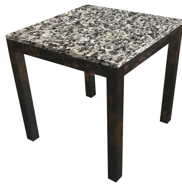 Lakes Parsons End Table Table Top Color: Blanco Puro, Table Base Color: Natural Wood