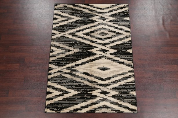 Boyden Beige/Black Area Rug Rug Size: Rectangle 7'8