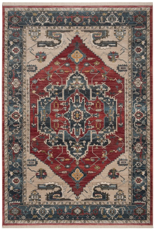 Powe Vintage Persian Cotton Red/Blue Area Rug Rug Size: Rectangle 9' X 11'7