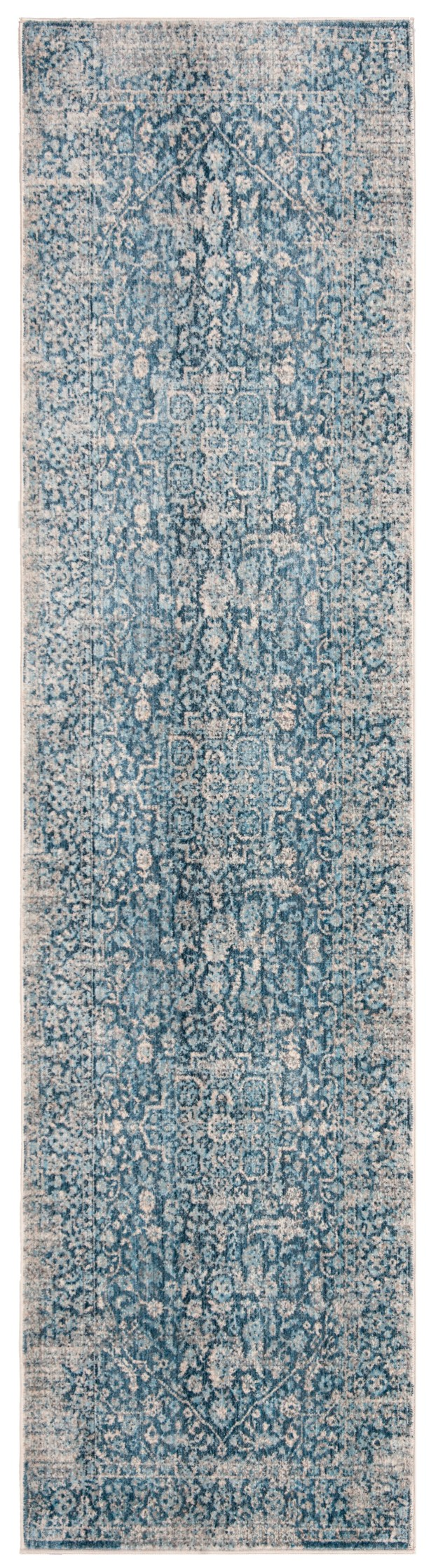 Coweta Vintage Persian Cotton Blue/Ivory Area Rug Rug Size: Rectangle 9' X 11'7