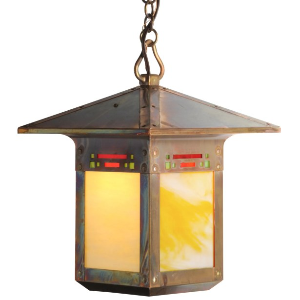Pullman 1-Light Lantern Pendant Finish: Architectural Bronze, Shade Color: Honey, Size: 39