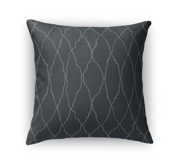Azilal Diamond Weave Throw Pillow Size: 24