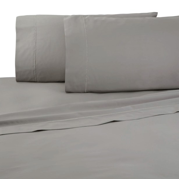 Supima Thread Count 100% Cotton Sheet Set Color: Gray , Size: King