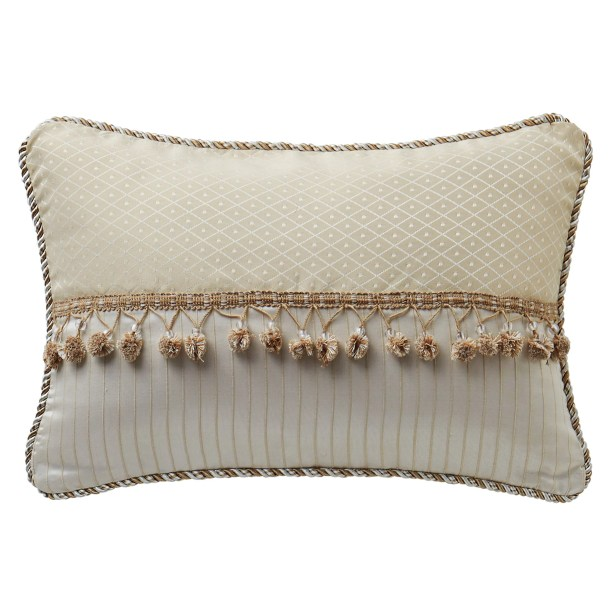 Landon Lumbar Pillow Color: Gold