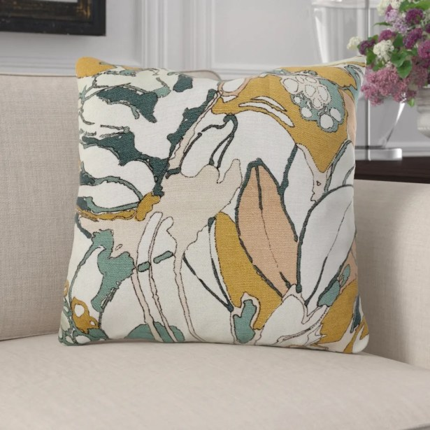 Kastelholm Floral Luxury Pillow Size: 16