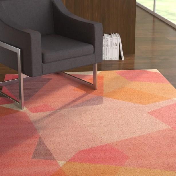 Mercy Geometric Blush Area Rug Rug Size: Rectangle5' x 7'