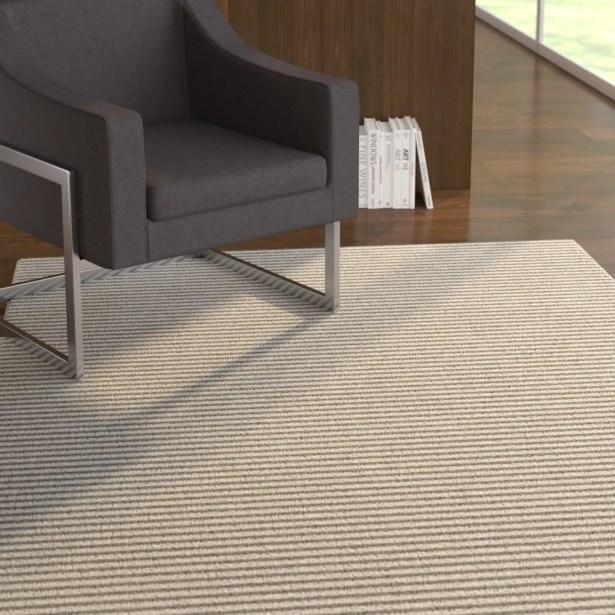 Maci Belmont Stripe Gray Area Rug Rug Size: Rectangle 2' x 3'