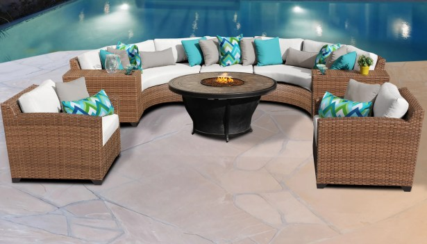 East Village 8 Piece Sectional Set with Cushions Color: White