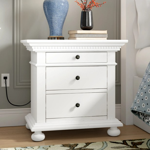 Dobson Nightstand Color: White